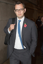 Phone Hacking Trial. <br /> Andy Coulson leaving the court building, The Old Bailey, London, United Kingdom. Wednesday, 6th November 2013. Picture by  i-Images / i-Images