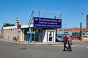 Transeuropa Ferries office, Ostend, coastal city in Belgium. The company went out of business - running a car ferry between Ostende and Ramsgate in the UK - in 2013.