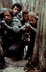 May 15, 2017 - Hollywood, USA - SOUTHERN COMFORT (1981)..POWERS BOOTHE, LEWIS SMITH, CARLOS BROWN, KEITH CARRADINE..STCF 001..MOVIESTORE COLLECTION LTD..Credit: Moviestore Collection/face to face..- Editorial use only  (Credit Image: © face to face via ZUMA Press)