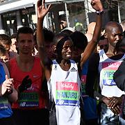 Daniel Wanjuri at the race start men and women at The Vitality Big Half 2019 on 10 March 2019, London, UK.