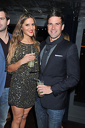 AMANDA BYRAM and GETHIN JONES at the launch party for Barberella, 428 Fulham Road, London SW6 on 17th October 2012.