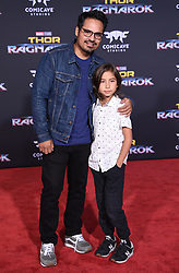 Marvel's 'Thor: Ragnarok' World Premiere held at the El Capitan Theatre. 10 Oct 2017 Pictured: Michael Pena and Roman Pena. Photo credit: O'Connor/AFF-USA.com / MEGA TheMegaAgency.com +1 888 505 6342