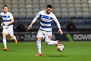 QPR Midfielder Ilias Chair(10)  during the EFL Sky Bet Championship match between Queens Park Rangers and Brentford at the Kiyan Prince Foundation Stadium, London, England on 17 February 2021.