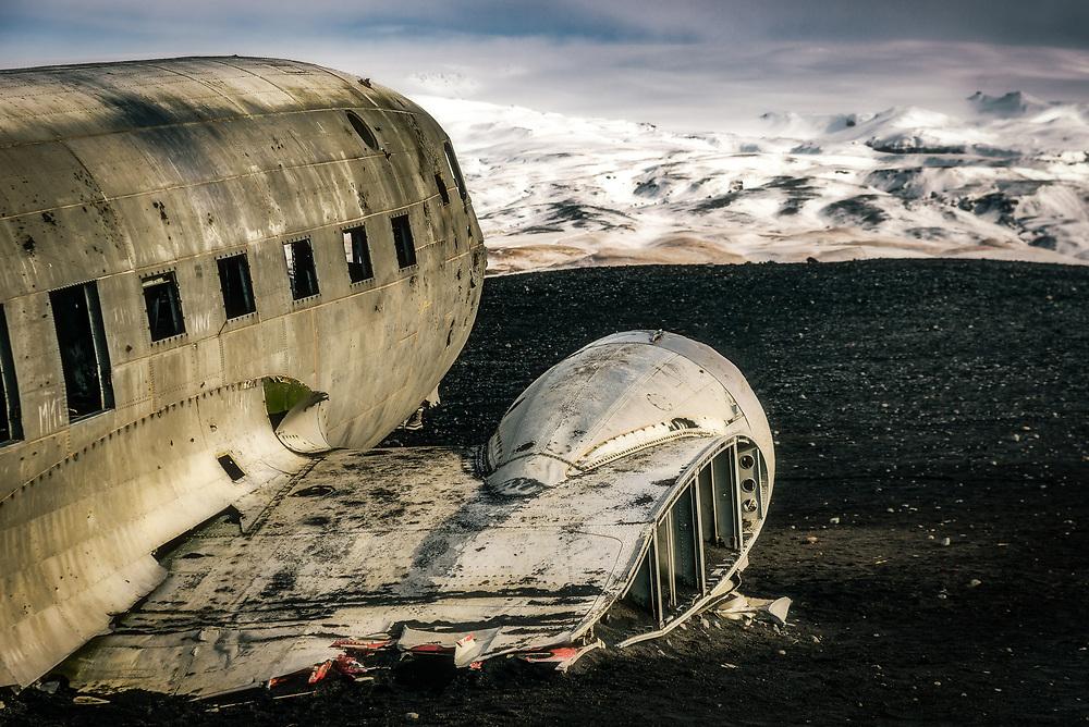 SÛlheimasandur Plane Crash in the South Iceeland