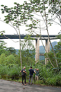 Crew in the jungle next to the motorway