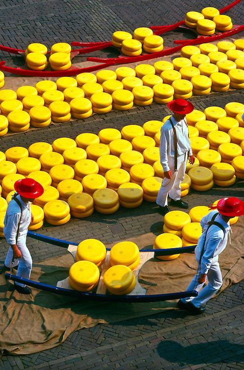 Overview of the cheese market, Alkmaar, the Netherlands