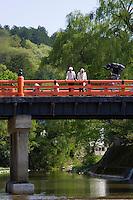 Nakabashi Bridge over the Miyagawa River in Takayama