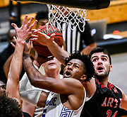 Chaminade guard Kendall Small (25) during the PacWest Mens Basketball Championships in the Felix Event Center at Azusa Pacific University Thursday, Mar. 05, 2020, in Azusa. (Mandatory Credit: Darin Sicurello-Sports Shooter Academy)