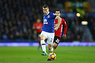 Seamus Coleman of Everton in action. Premier league match, Everton v Manchester United at Goodison Park in Liverpool, Merseyside on Sunday 4th December 2016.<br /> pic by Chris Stading, Andrew Orchard sports photography.