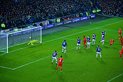 LIVERPOOL, ENGLAND - Monday, December 19, 2016: Everton's goalkeeper Joel Robles makes a save from Roberto Firmino during the FA Premier League match, the 227th Merseyside Derby, at Goodison Park. (Pic by Gavin Trafford/Propaganda)