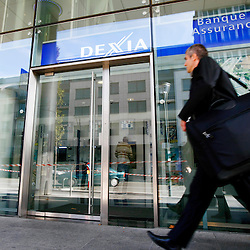 BELGIQUE - BRUXELLES - 13 Octobre 2008 - Dexia banque et assurance - Logo - Immeuble - Crise Bancaire - Crise - CrÈdit - Credit HypothÈcaire - Èconomie - Èconomique © Scorpix / P.Mascart..-----..BELGIUM - BRUSSELS - 13 October 2008 - Dexia Bank and Insurance - Dexia logo and building - Dexia Crisis - Credit - Brokers - Bank Crisis - mortgage credit - Èconomic - Èconomy © Scorpix / P.Mascart
