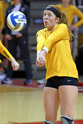 23 November 2017:  Katherine Carlson during a college women's volleyball match between the Valparaiso Crusaders and the Illinois State Redbirds in the Missouri Valley Conference Tournament at Redbird Arena in Normal IL (Photo by Alan Look)