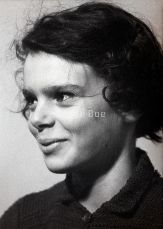 portrait of a preteen girl 1950s