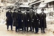 vintage businessmen group portrait Japan