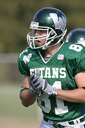 22 October 2005: Titan WR Martin Ceisel. The Illinois Wesleyan Titans posted a 23 - 14 home win by squeeking past the Thunder of Wheaton College at Wilder Field (the 5th oldest collegiate field in the US) on the campus of Illinois Wesleyan University in Bloomington IL