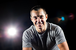 © Licensed to London News Pictures . 18/04/2016 . Bury , UK . Boxer SCOTT QUIGG at his private gym at a unit on an industrial estate , in Bury . Photo credit : Joel Goodman/LNP