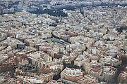 Aerial view of city centre of Valencia, Spain
