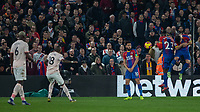 Football - 2018 / 2019 Premier League - Crystal Palace vs. Manchester United<br /> <br /> The Crystal Palace wall does it's job as it deflects the free kick from Ashley Young (Manchester United) at Selhurst Park.<br /> <br /> COLORSPORT/DANIEL BEARHAM