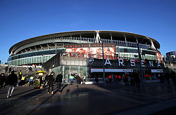 General view of the ground before the UEFA Europa League round of 32 second leg match at the Emirates Stadium, London.