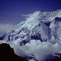 NEPAL, Himalaya. Annapurna II from Thorang La.