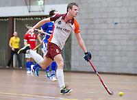HEILOO -Robin Herweijer van Almere tijdens de competitiewedstrijd zaalhockey tussen de mannen van Kampong en Almere.    COPYRIGHT KOEN SUYK