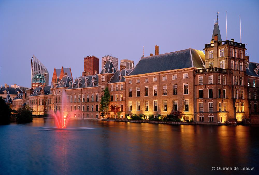 The Innercourt Binnenhof buildings in The Hague city at evening.  © Holland Ektar series