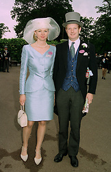 The EARL & COUNTESS OF DERBY at Royal Ascot on 17th June 1997.LZI 61