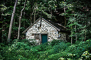 Rustic springhouse in Chester Springs, Pennsylvania, USA.