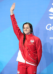 England's Molly Renshaw wins silver in the Women's 200m Breaststroke Final at the Gold Coast Aquatic Centre during day three of the 2018 Commonwealth Games in the Gold Coast, Australia. PRESS ASSOCIATION Photo. Picture date: Saturday April 7, 2018. See PA story COMMONWEALTH Swimming. Photo credit should read: Danny Lawson/PA Wire. RESTRICTIONS: Editorial use only. No commercial use. No video emulation.
