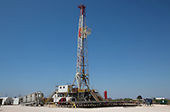 Halliburton fracking site in Big Spring Texas, part of the  Permian Basin.