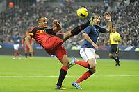 FOOTBALL - INTERNATIONAL FRIENDLY GAMES 2011/2012 - FRANCE v BELGIUM - 15/11/2011 - PHOTO JEAN MARIE HERVIO / DPPI - VINCENT KOMPANY (BEL) / KARIM BENZEMA (FRA)