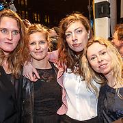 NLD/Amsterdam/20160311 - Inloop Boekenbal 2016, .Maartje Wortel, ........., Hanne Bervoets en Sunny Bergman