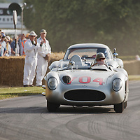 #704, Mercedes-Benz 300 SLR, with Hans Herrmann at the wheel. Goodwood Festival of Speed 2015