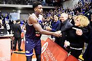 Abass Awudu Bragaglio Graziella<br /> Grissin Bon Reggio Emilia - Germani Basket Brescia<br /> Lega Basket Serie A 2019/2020<br /> Reggio Emilia, 11/01/2020<br /> Foto A.Giberti / Ciamillo - Castoria