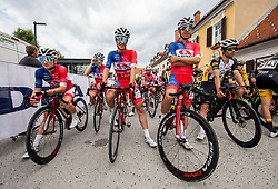 Kristijan HOCEVAR of ADRIA MOBIL, Gasper KATRASNIK of ADRIA MOBIL, Ziga HORVAT of ADRIA MOBIL during 2nd Stage of 27th Tour of Slovenia 2021 cycling race between Zalec and Celje (147 km), on June 10, 2021 in Slovenia. Photo by Vid Ponikvar / Sportida