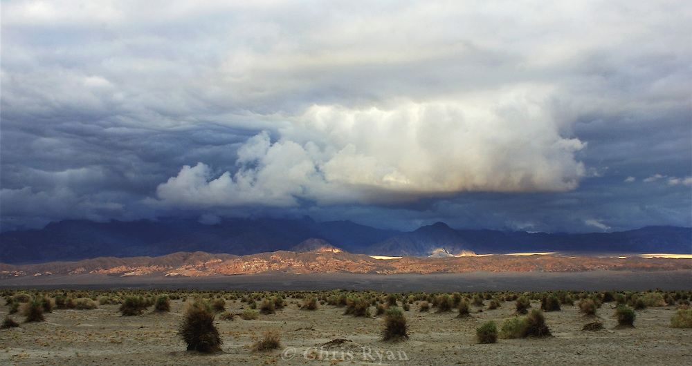 Holes in the clouds, Death Valley