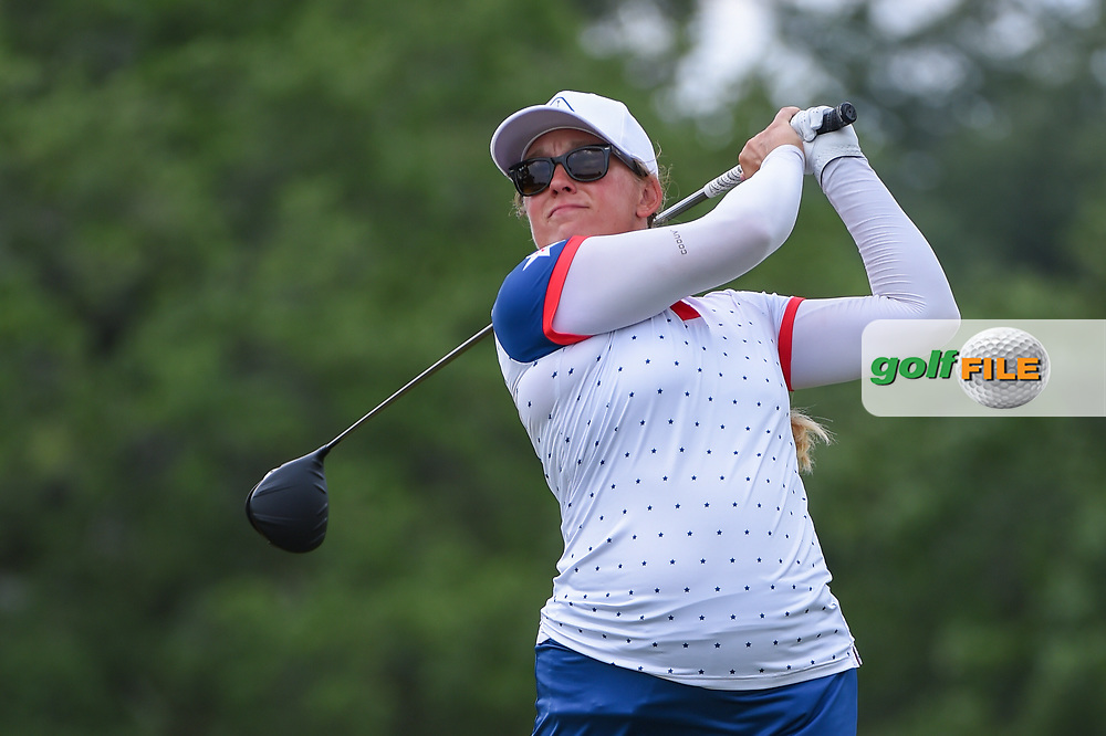 Marissa Steen (USA) watches her tee shot on 2 during round 2 of the 2019 US Women's Open, Charleston Country Club, Charleston, South Carolina,  USA. 5/31/2019.<br /> Picture: Golffile | Ken Murray<br /> <br /> All photo usage must carry mandatory copyright credit (© Golffile | Ken Murray)