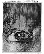 Solaroid - Louise Eye - This is a solarised polaroid photo art print by Paul E Williams who invented the technique and is the only photographer to have used it. The process is sadly no longer possible. Taken in 1991 .<br /> <br /> Visit our FINE ART PHOTO  PRINT COLLECTIONS for more wall art photos to browse https://funkystock.photoshelter.com/gallery-collection/Fine-Art-Photo-Prints-by-Photographer-Paul-Williams/C0000UM829OLMVv8 .