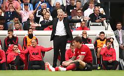 Manchester United manager Jose Mourinho (centre)