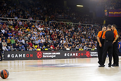 November 17, 2017 - Barcelona, Catalonia, Spain - the referees and the ball during the match between FC Barcelona v Anadolou Efes corresponding to the week 8 of the basketball Euroleague, in Barcelona, on November 17, 2017. (Credit Image: © Joan Valls/NurPhoto via ZUMA Press)