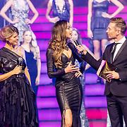 NLD/Hilversum/20171009 - Finale Miss Nederland 2017, Kim Kotter, Zoey Ivory en Koos van Plateringen