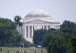 June 16, 2017 - Washington, District of Columbia, United States of America - View of the Jefferson Memorial from the South Lawn of the White House in Washington, DC on Friday, June 16, 2017..Credit: Ron Sachs / CNP (Credit Image: © Ron Sachs/CNP via ZUMA Wire)