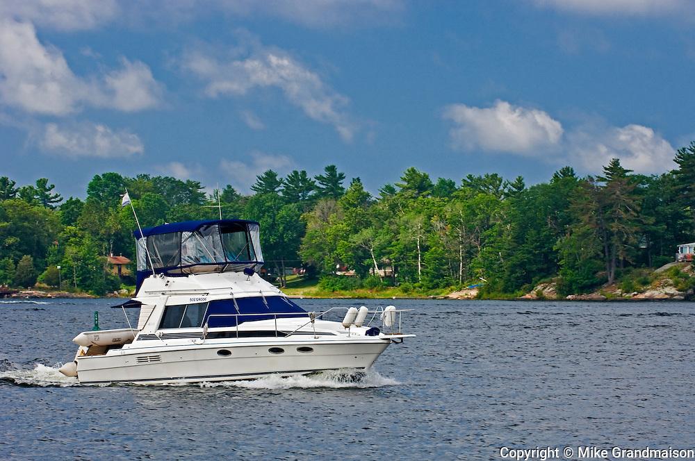 Boat in Honey Harbour<br /> <br /> Ontario<br /> Canada