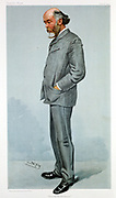 Oliver Lodge (1851-1940) British physicist. Electricity. Wireless telegraphy. Psychical research. 'Spy' (Leslie Ward) cartoon from 'Vanity Fair', 1904, when Lodge was first Principal of Birmingham University.