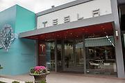 Tesla motors showroom in Oakbrook, a suburb of Chicago, USA.