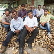 CAPTION: Team DESI Power. LOCATION: Gayari, Araria District, Bihar, India. INDIVIDUAL(S) PHOTOGRAPHED: Back row from left to right - Satyajit Sen, Jaiprakash Kushwaha, S N Sharan ('Bullu Ji'), Sudhir Kumar Singh and Sajid Khan; front row from left to right - Deepak Das, Janmanjoy Kumar Roy and Touqeer Zaman.
