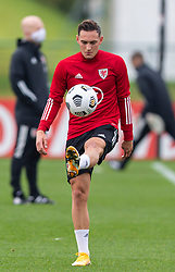 CARDIFF, WALES - Monday, October 5, 2020: Wales' Connor Roberts during a training session at the Vale Resort ahead of the International Friendly match against England. (Pic by David Rawcliffe/Propaganda)