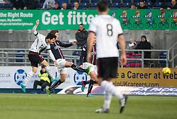 St Mirren's Lewis Morgan scoring their goal. half time : Falkirk 0 v 1 St Mirren, Scottish Championship game played 3/12/2016 at The Falkirk Stadium .