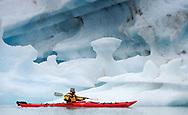 Kayaking in Svalbard, Norway