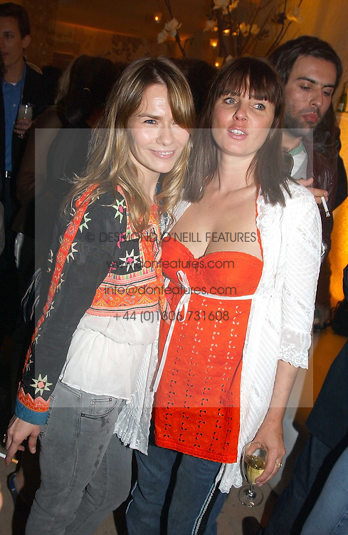 Left to right, The HON.JACKIE PERTWEE wife of actor Sean Petwee and SADIE FROST at a party to celebrate the opeing of the new Paul & Joe Boutique at 134 Sloane Street, London SW1 on 14th April 2005.<br /><br />NON EXCLUSIVE - WORLD RIGHTS